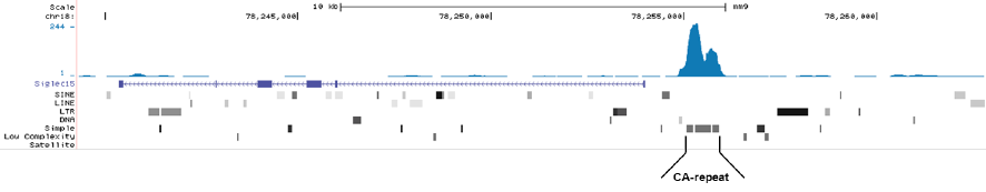 MeDIP-seq result figure A