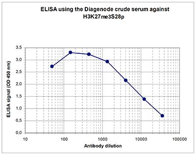 H3K27me3S28p Antibody ELISA validation