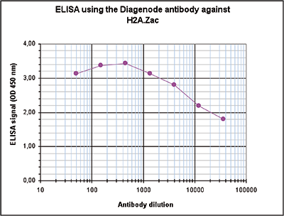 H2A.Zac Antibody ELISA validation